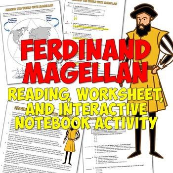 Ferdinand Magellan Reading, Worksheet, and Interactive Not