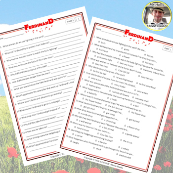 Ferdinand Movie Guide + Activities - Answer Key Included