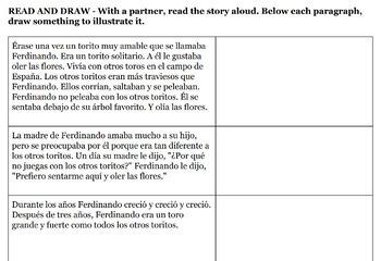 Ferdinand The Bull / Ferdinando El Toro for Spanish 2+
