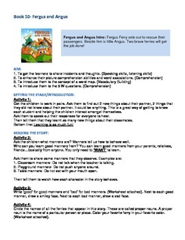 Fergus Ferry Book Lesson Plans For Book 10 Fergus and Angus