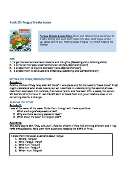 Fergus Ferry Book Lesson Plans For Book 12 Fergus Breaks Loose