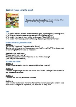 Fergus Ferry Book Lesson Plans For Book 13 Fergus Joins The Search