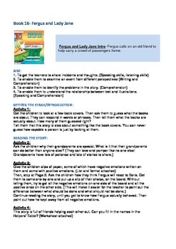 Fergus Ferry Book Lesson Plans For Book 16 Fergus and Lady Jane