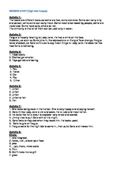 Fergus Ferry Book Lesson Plans For Book 17 High Tide Fergus