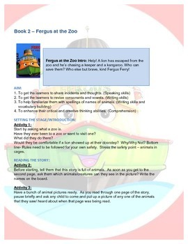 Fergus Ferry Book Lesson Plans For Book 2 Fergus at the Zoo