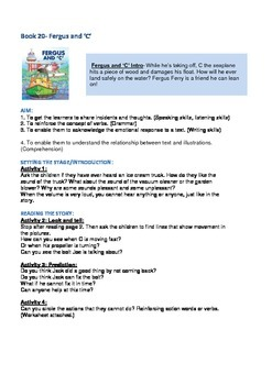 "Fergus Ferry Book Lesson Plans For Book 20 Fergus and ""C"""