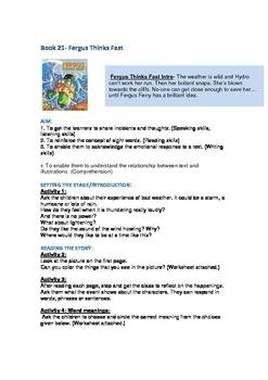 Fergus Ferry Book Lesson Plans For Book 21 Fergus Thinks Fast