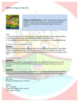 Fergus Ferry Book Lesson Plans For Book 3 Fergus at the Fire