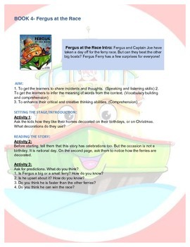 Fergus Ferry Book Lesson Plans For Book 4 Fergus at the Race
