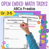 Open Ended Math Tasks Free