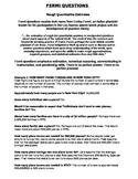Fermi Questions - Mathematical Estimation and Problem Solving