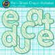 Fern Green Crayon Alphabet Clip Art {Great for Classroom Decor & Resources}