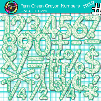 Fern Green Math Numbers Clip Art {Great for Classroom Decor & Resources}