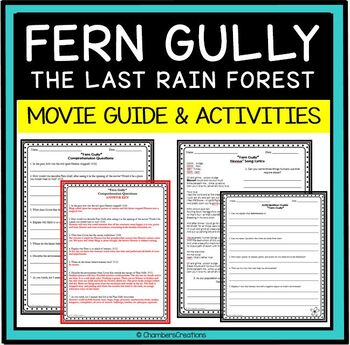 Fern Gully: Movie Questions and Anticipation Guide