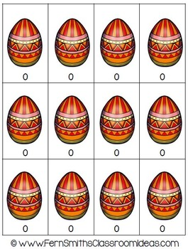 Easter Subtraction Doubles Math Center Game