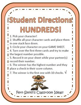 Thanksgiving Math Center Games for Place Value