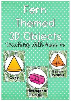 Fern Themed 3D Objects #ausbts18