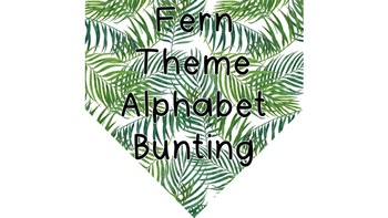 Fern Themed Alphabet and Number Bunting #ausbts18