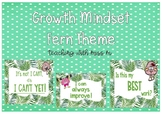 Fern Themed Growth Mindset Posters #ausbts18