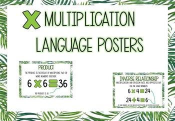 Fern Themed Multiplication Language Posters #ausbts18