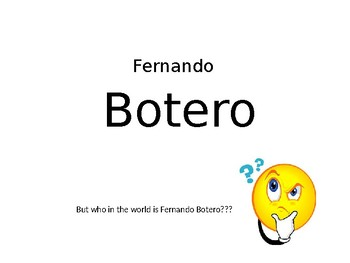 Fernando Botero Google Slides Lesson updated version