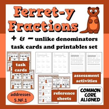 Ferret-y Fractions - add/subtract unlike denominators task