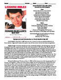 Ferris Bueller's Day Off Film (1986) Study Guide Movie Packet