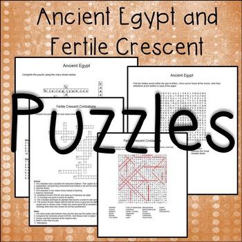 Fertile Crescent Civilizations and Ancient Egypt Puzzles