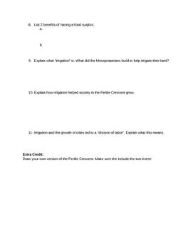 Fertile Crescent Quiz