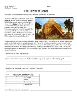 Fertile Crescent - Tower of Babel