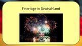 Feste und Traditionen - German holidays and celebrations