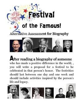 Festival of the Famous Alternative Assessment for Biography