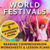 ESL Reading Bundle w/ Full Lesson Plans: World Festivals