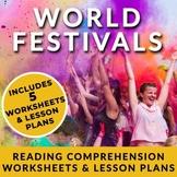 FREE! Festivals - Readings w/ Full Lesson Plans for ESL or