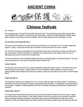 Festivals in ancient China Article