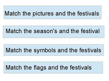 Festivals matching activity