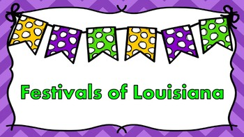 Festivals of Louisiana Research Articles, Graphic Organizers, and Brochure