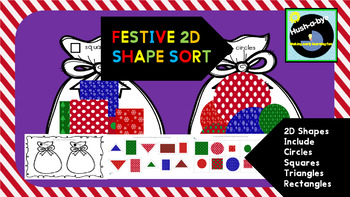 Festive 2D Shape Sort