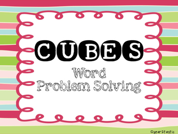 Festive CUBES Math Problem Solving Posters {year2tastic}