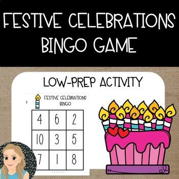 Festive Celebrations Math {Bingo Game}