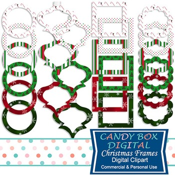 Christmas / Holiday Digital Frame Clip Art