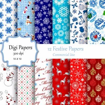 Festive Digital Papers
