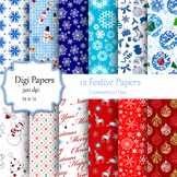 Festive Digital Papers