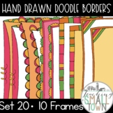 Festive Doodle Borders // Personal and Commercial Use // Set 20