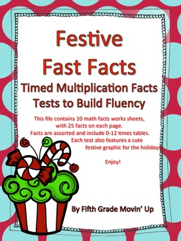 Festive Fact Fluency Christmas Multiplication Timed Tests