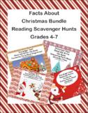 Facts About Christmas Bundle-Reading-Scavenger Hunts-Grades 4-7
