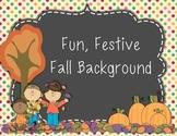 Festive Fall Background