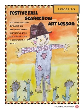 Festive Fall Scarecrow Art Lesson