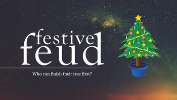 Festive Feud - fun powerpoint game for Christmas and the holiday season.