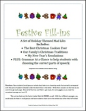 Festive Fill-ins Part of Speech Practice